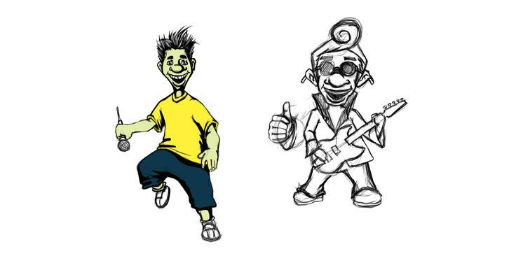 Тестовые эскизы персонажей