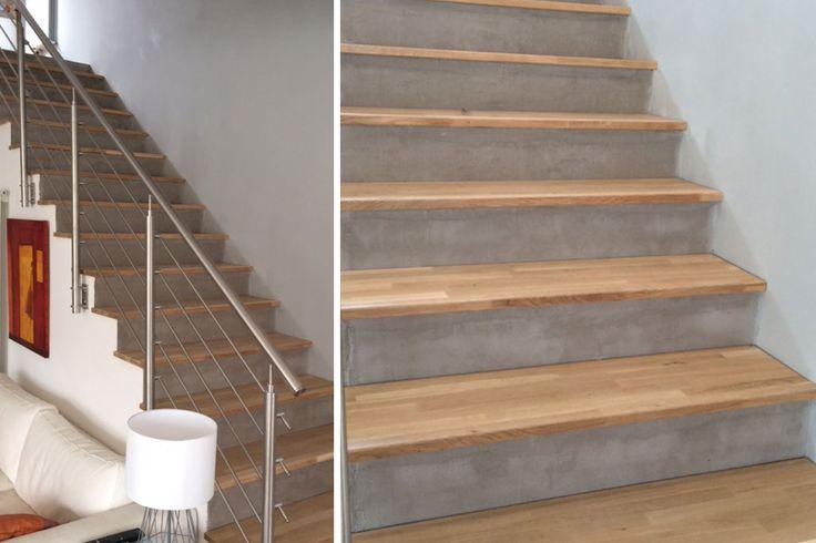 17 meilleures id es propos de escalier beton sur pinterest escaliers maison pierre et pin for Habillage marche escalier beton exterieur