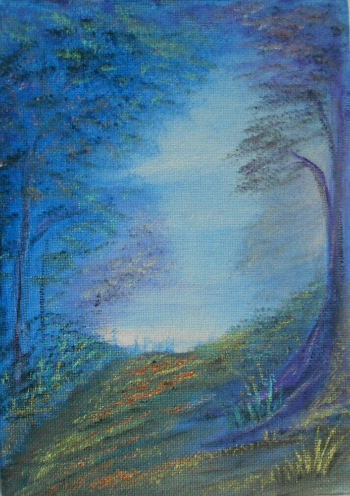 The path beckons  Original Oil Painting 7 x5