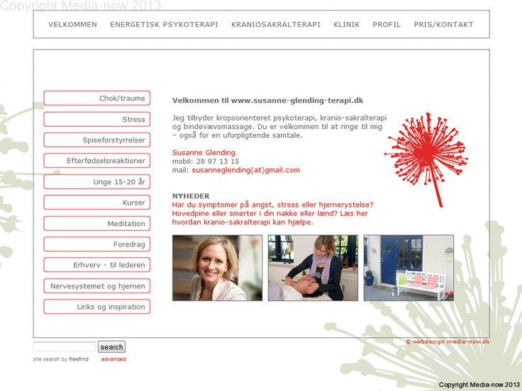 Webdesign og programmering til terapeut