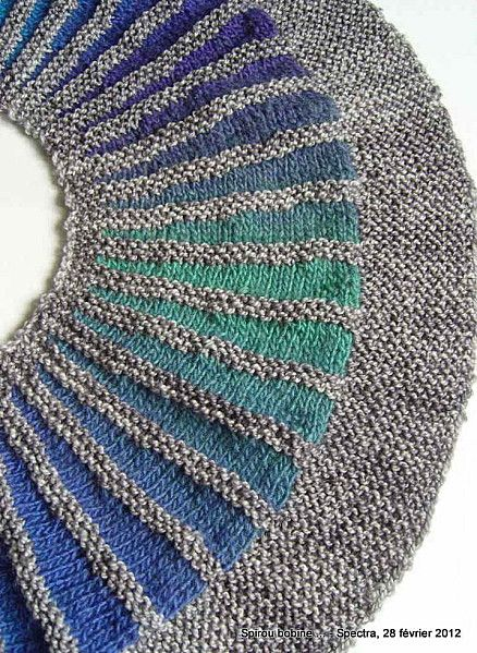 Short Rows- very interesting shape. Not your usual shawl!