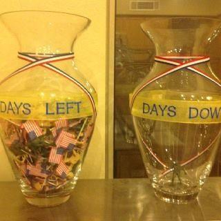 Deployment countdown jars!   #SargesList #deployment #familyreadiness