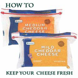 Want to make your cheese last longer?  -- Block cheese will go bad faster if you touch it with your fingers. So when you slice it, hang onto the plastic covering instead of grabbing the bare cheese.