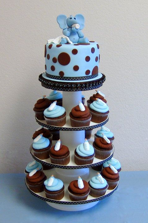 Completely adorable baby shower cake idea