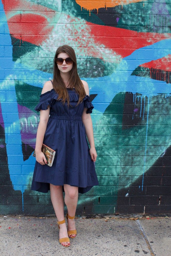 In the Navy Summer Dress | Tracie Marie Please | Tibi Rent the Runway