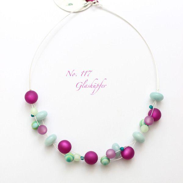 ♥ No.117 ♥ Kette - Amazonit, Polaris von Glashüpfer auf DaWanda.com