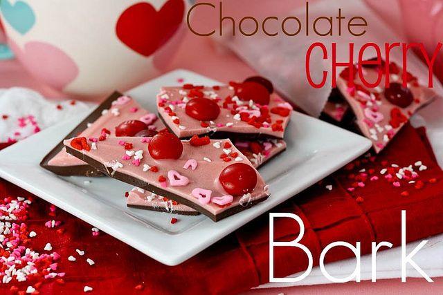 Chocolate M&M; Valentine's Bark