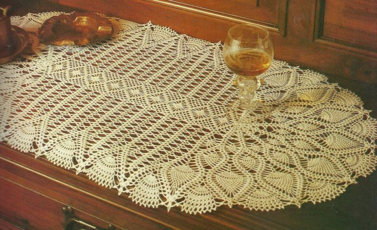 beautiful oval table doily...graph directions included ...