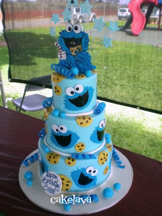 cakelava: C is for Cookie Monster. cake by Rick Reichart. www.cakelava.com
