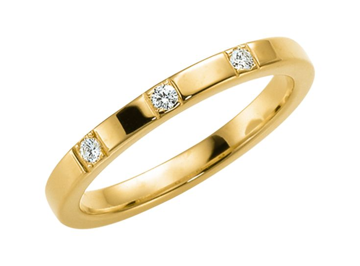 Vigselring Schalins 237-2,53.3 18k guld, WSI diamanter 0,09 ct