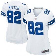 Womens Nike Dallas Cowboys http://#82 Jason Witten Elite White Color Jersey$109.99