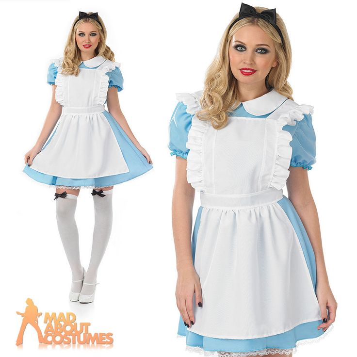 Adult Traditional Alice Costume Ladies Book Week Day Fairytale Fancy Dress New