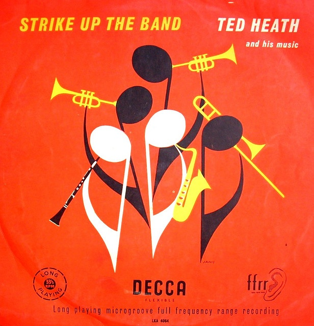 Strike Up The Band: Ted Heath and His Orchestra: Decca Records LKA 4064 [England] [design/artist?]