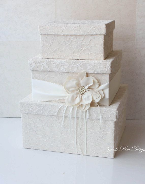 Wedding Card Box Wedding Money Box Gift Card by jamiekimdesigns, $159.00