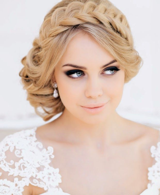 Wedding day makeup. Gray/slate smokey eyes with lashes. Nude lips or just a little bit of color. Add some natural/peachy blush to the cheeks?