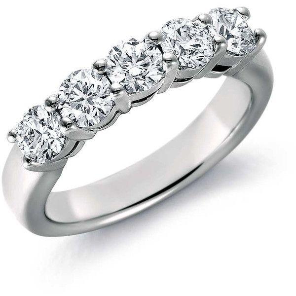 5 Diamond Platinum Wedding Band For Women In Prong Setting Jl Pt 416 1129