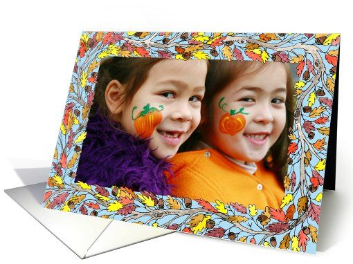 Fall Oak Horizontal Photo card (856607) by Diana Ting Delosh