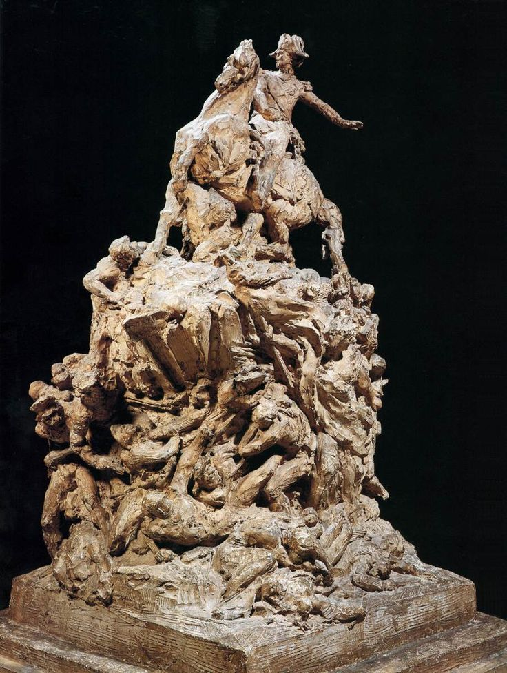 Jean-Baptiste Carpeaux, Sketch for the Marshal Moncey Monument 1864 Original plaster, height 167 cm Petit Palais, Paris