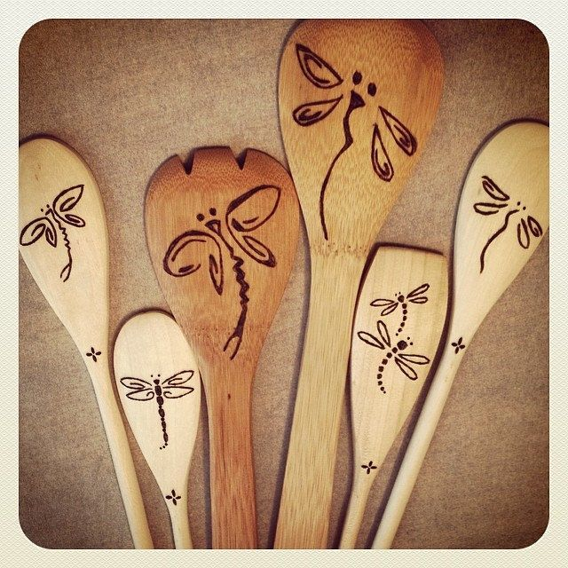 Les 2707 meilleures images du tableau pyrography sur for Wooden spoons for crafts
