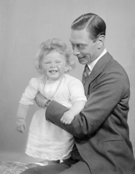 Queen Elizabeth II and her Father, the future King George