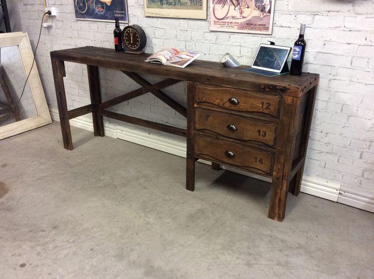 Industrial style workbench desk station