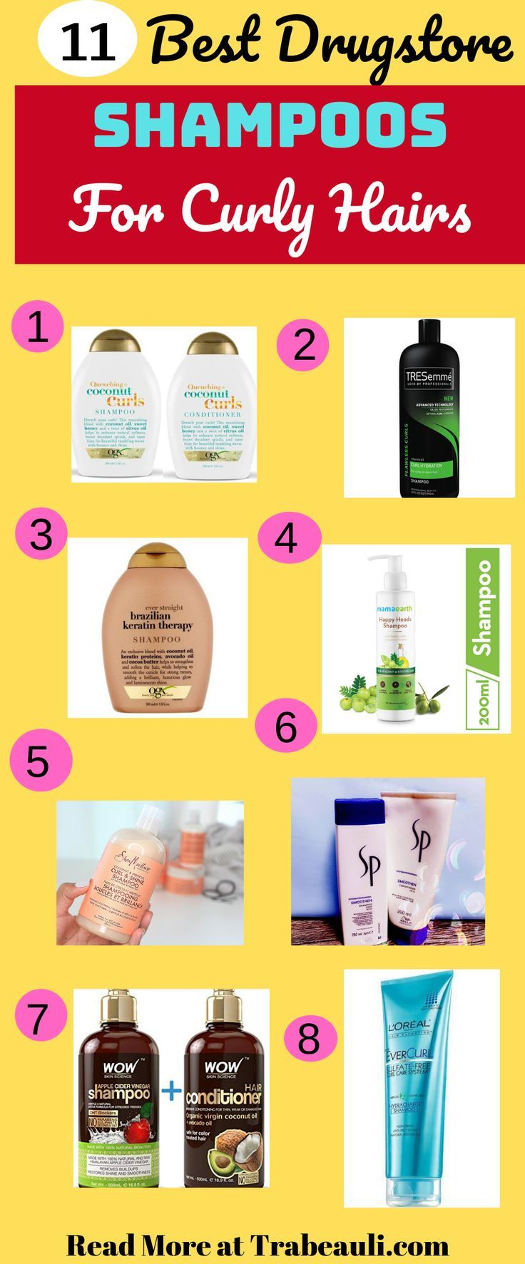 11 Best Shampoo For Curly Hair Sulfate Free In India 2019 In 2020