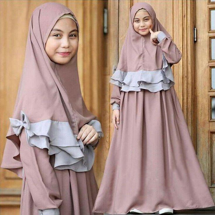 (Advertisement)eBay- Muslim Girls Prayer Long Dress Hijab Set Kaftan Arab Kids Islamic Abaya Jilbab