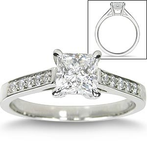 17 best images about princess cut engagement rings