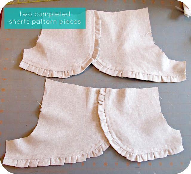 homemade by jill: ruffle shorts: a pattern hack