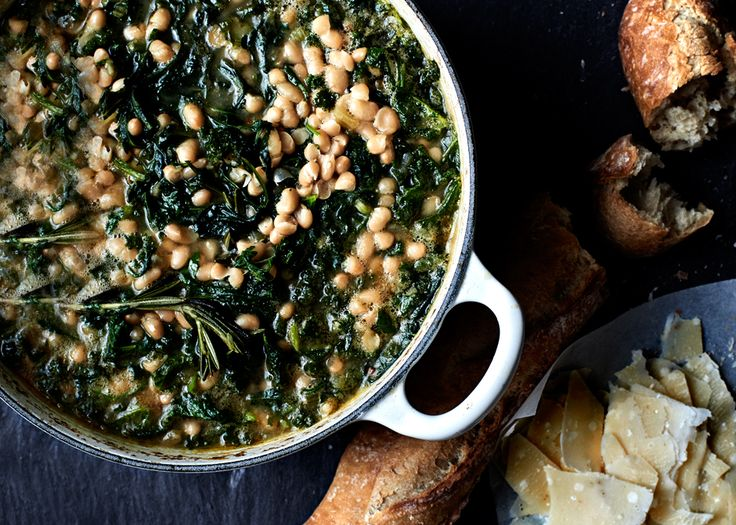 Spicy Beans and Wilted Greens — white beans plus kale, spinach, and ...