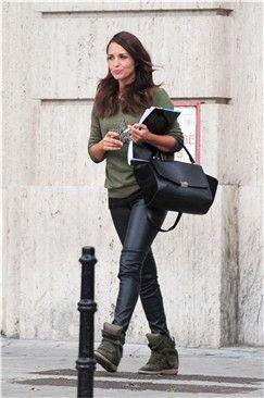 Copia el look de Paula Echevarría con sudadera militar de Mango y pantalón de cuero de HM   Galería de fotos   Mujerhoy.com