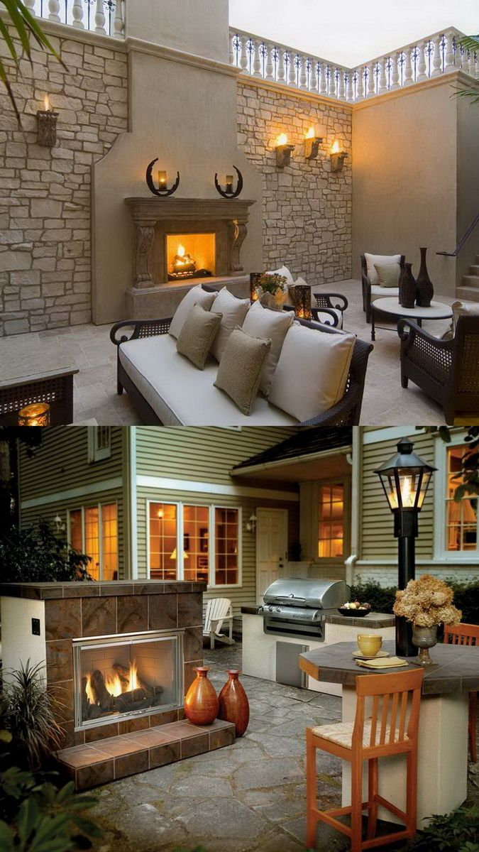 7 best patio images on pinterest outdoor stone fireplaces