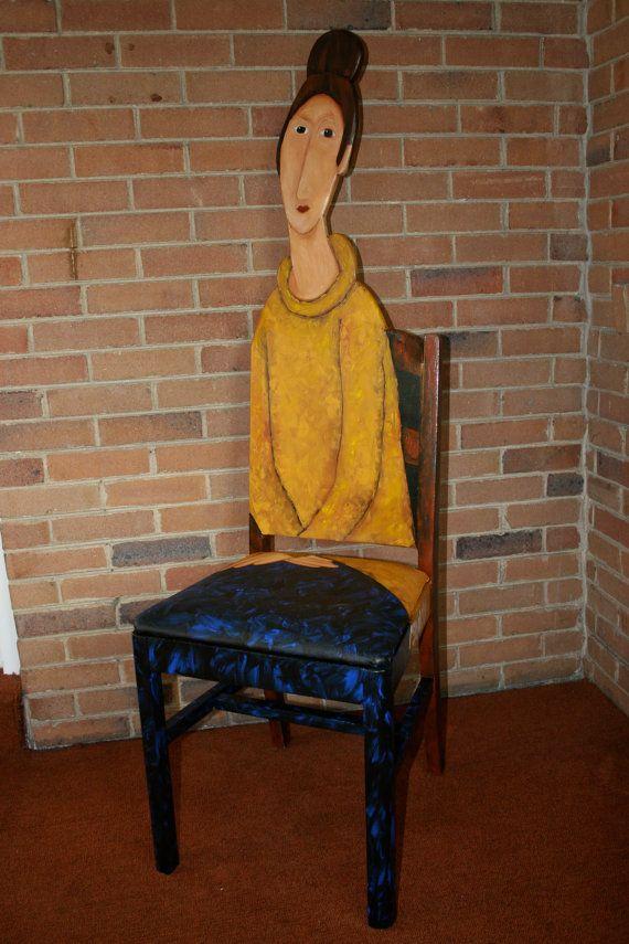 "$495.00 Modigliani chair ""Jeanne Heburterne in a Yellow Sweater"""
