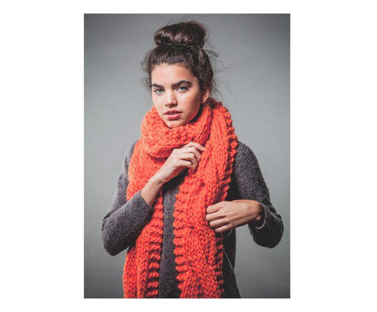 Kit lavoro a maglia per sciarpa Charming corallo, 8 pz | Dalani Home & Living