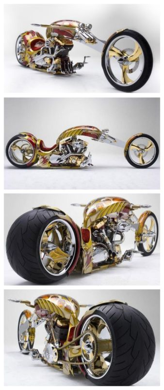 "Meet the world's first 24-karat gold plated Chopper ""Nehme-sis"" 