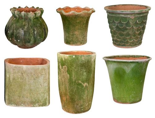 """How to """"age"""" new clay pots to make them look old. « Irvingparkgardenclub's Blog"""