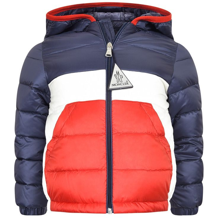 Moncler Baby Boys Navy & Red Down Padded Gatien Jacket