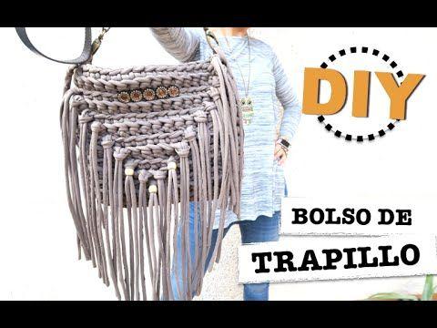 DIY Bolso de trapillo con flecos! | Manualidades
