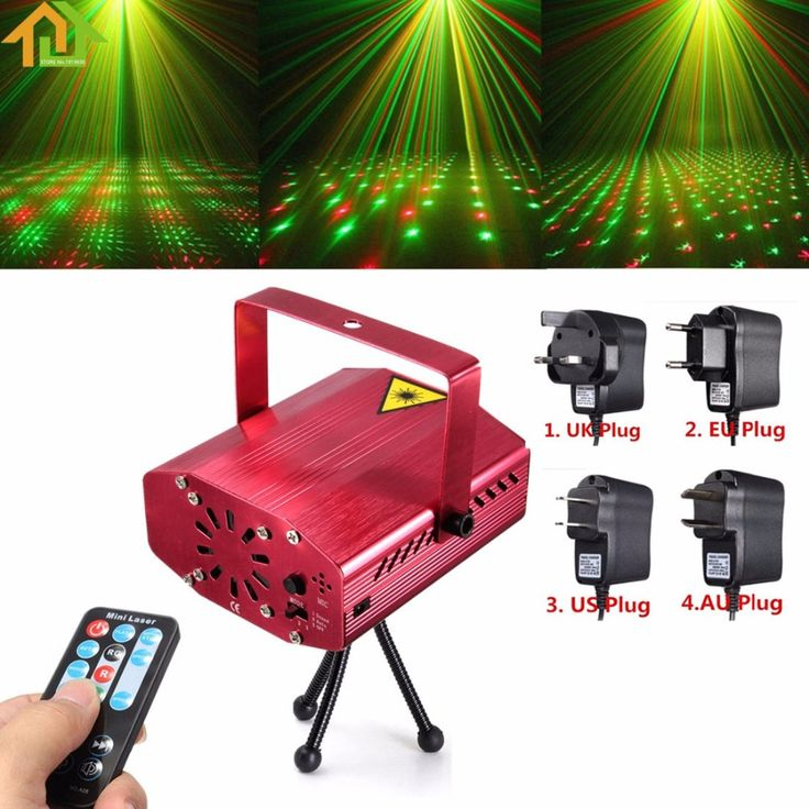 R&G Auto / Voice Xmas DJ Disco LED Laser Stage Light Projector with Remote Controller #Affiliate