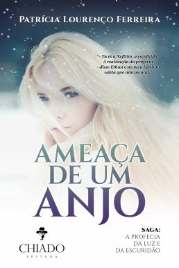 """Chiado Editora   """"Ameaça de um Anjo"""" de Patrícia Lourenço Ferreira"""