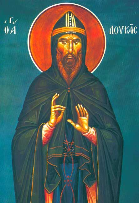 Luke of Mount Stirion, Ascetic