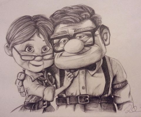 Disney challenge day 9: favorite couple-- Carl and Ellie :)