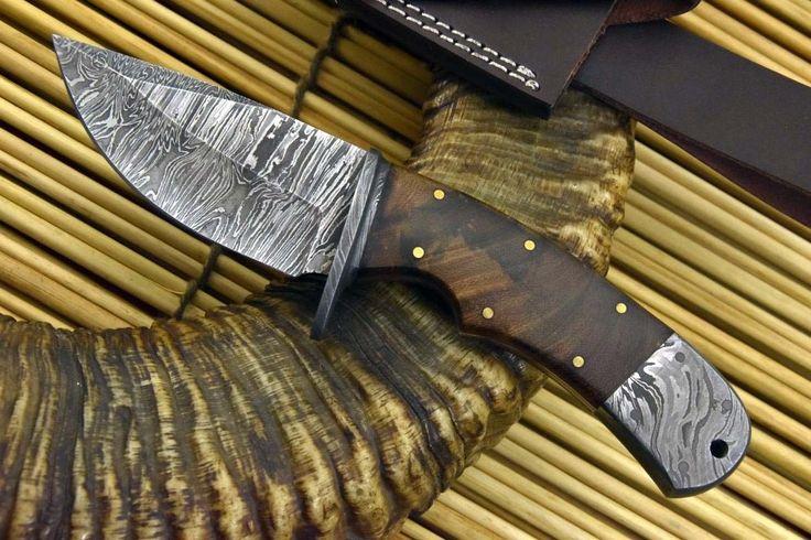 Personalizada Damasco cuchillo de caza hecho a mano con la nuez de la manija (X90-B) • $ 29.99 - PicClick