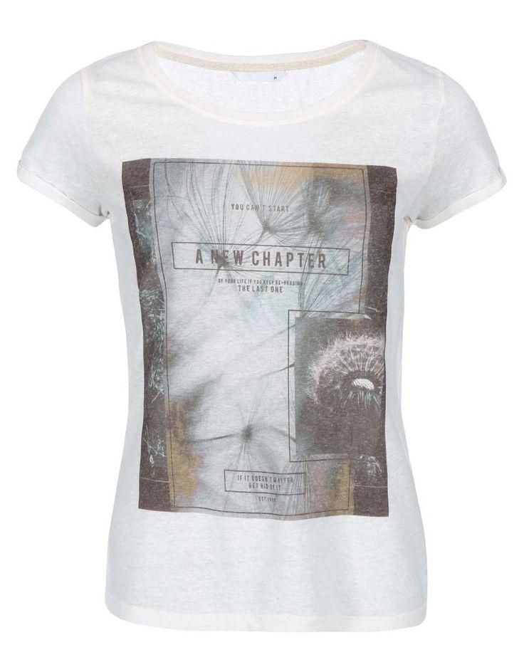 ONLY - Krémové tričko s potiskem  Milla Chapter - 1
