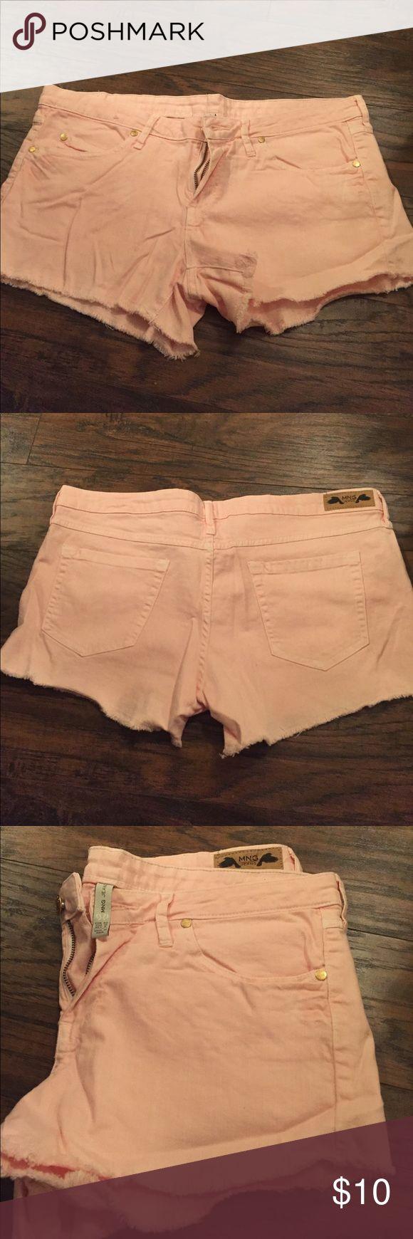 Light pink shorts Light pink shorts with bottom fraying Shorts Jean Shorts