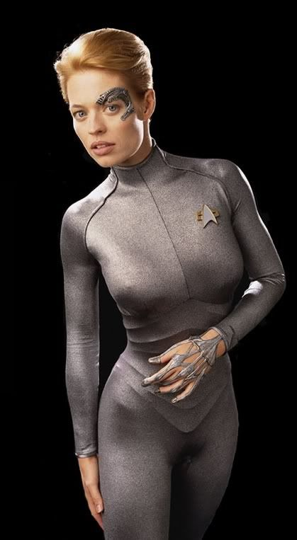 Jeri Ryan as Seven of Nine in Star Trek: Voyager