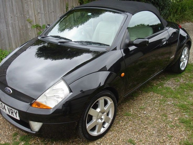 A Ford StreetKA convertible. Fun to drive, low mileage, two lady owners and in fantastic condition