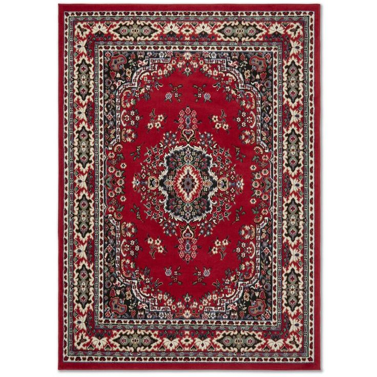 Lilly Oriental Red Area Rug Area rugs, Traditional area