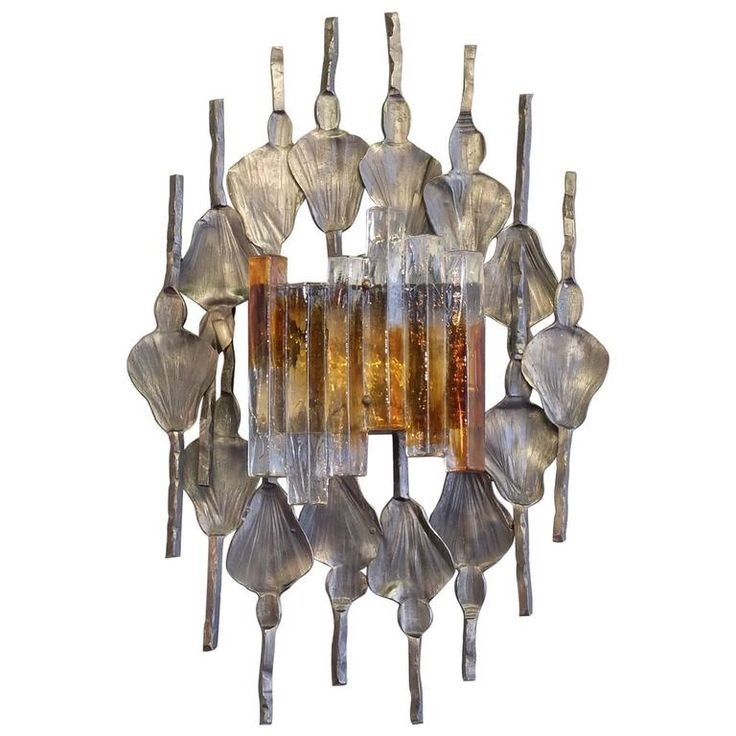 Tom Ahlstrom and Hans Ehrich Brutalist Midcentury Wall Sconce, A and E Leuchten | From a unique collection of antique and modern wall lights and sconces at https://www.1stdibs.com/furniture/lighting/sconces-wall-lights/