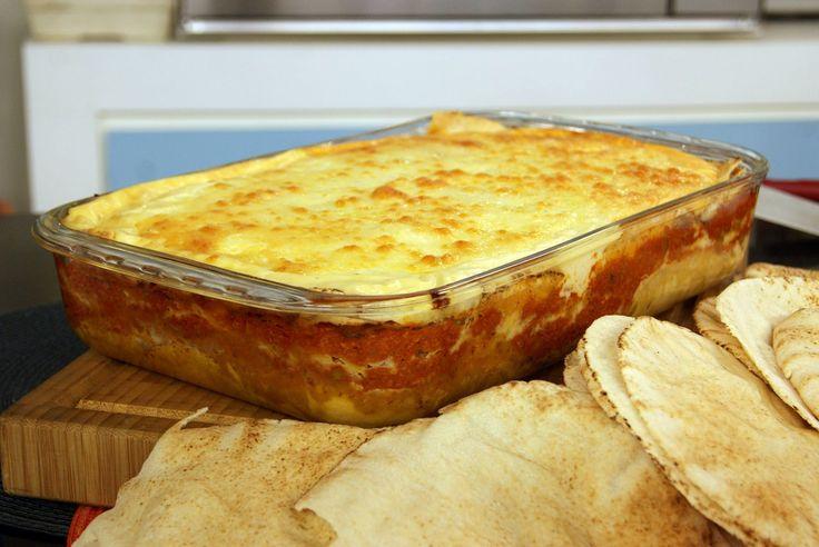 Aprenda a fazer a receita de Lasanha de Pão Sírio